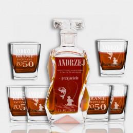 Zestaw Karafka i 6 szklanek...