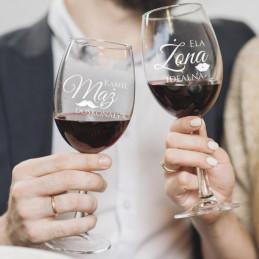 Kieliszki do wina ŻONA & MĄŻ